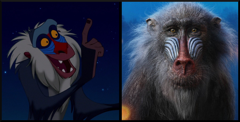 Rafiki from The Lion King- Then vs. Now, which character's appearance do you prefer?
