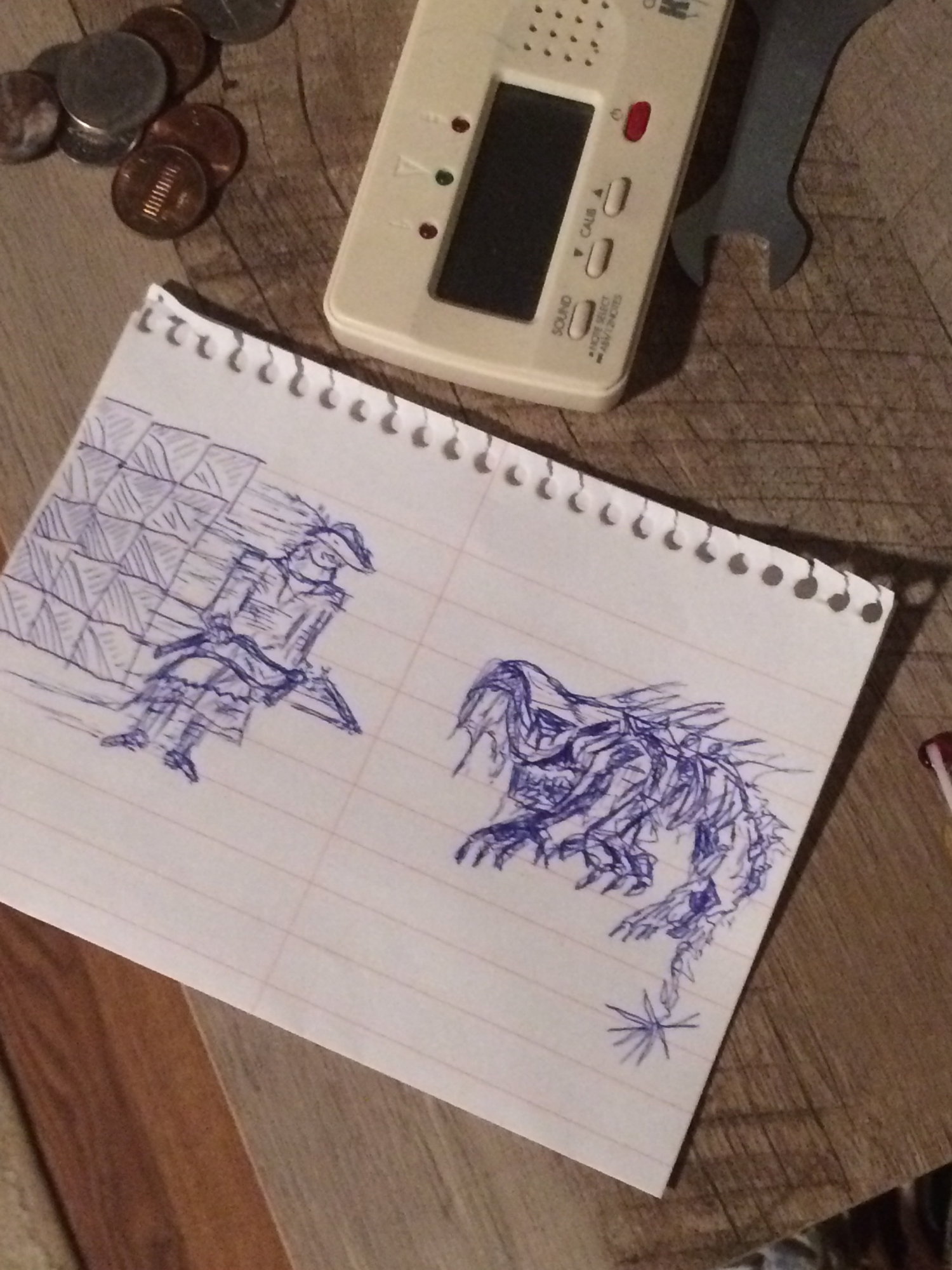 Tiny Bloodborne sketch my dad made