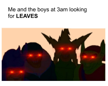 Low Quality Memes I Made While Waiting For Leaves Fandom