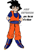 Ash as son goku
