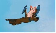 Scooby doo spaceranger flying with artemis