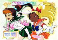 Sailor Scouts Daphne and Nani