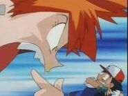 Misty yelling at ash
