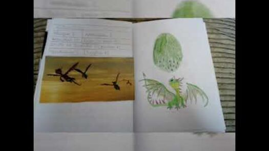 Mi libro de dragones hecho por mi.