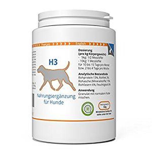 ww7 H3 | Haut & Fell Formel für Hunde | 150g Natürliches Premium Granulat: Amazon.de: Haustier
