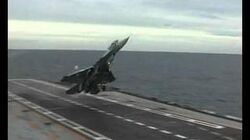 MiG_29K_LANDING_on_Admiral_Gorshkov_Aircraft_Carrier_RARE_VIDEO