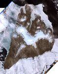 Bolshevik island, Russia, Landsat 7 image