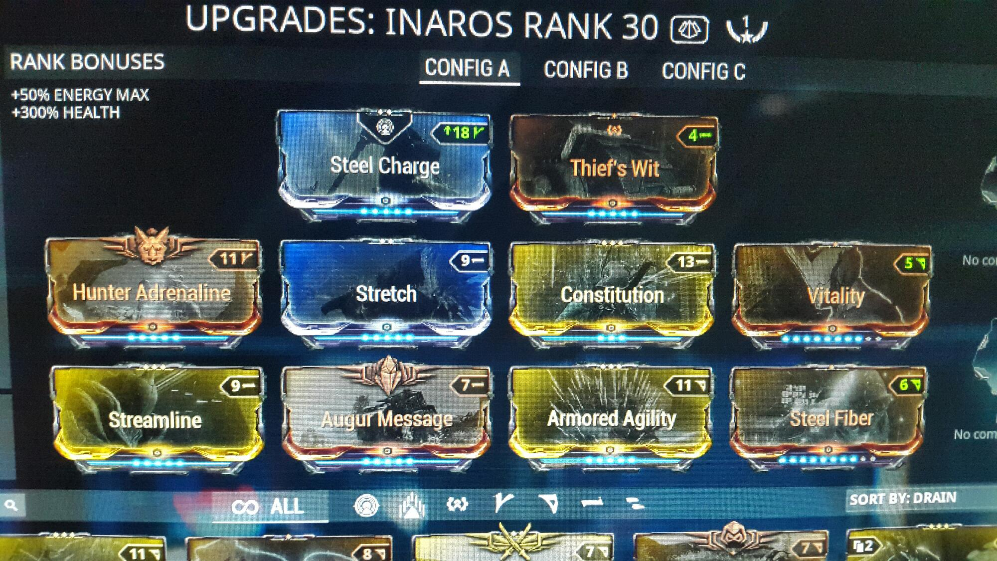 this is my inaros build , what do u guys suggest | Fandom