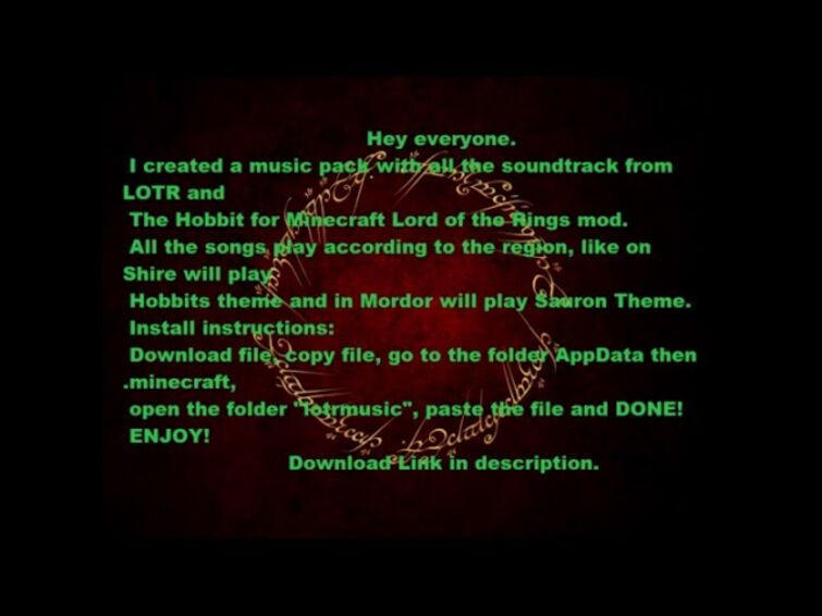 Minecraft LOTR Mod - Lord of the rings and Hobbit soundtrack Music Pack