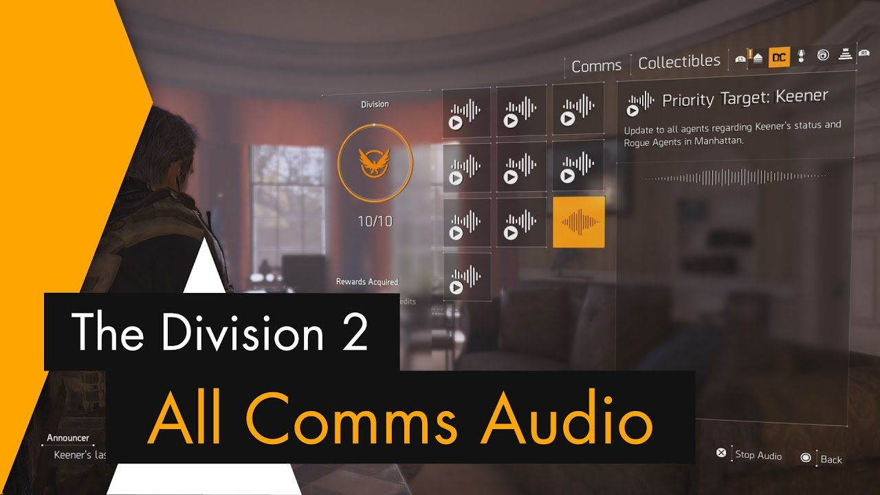 The Division 2 - All Comms Audio