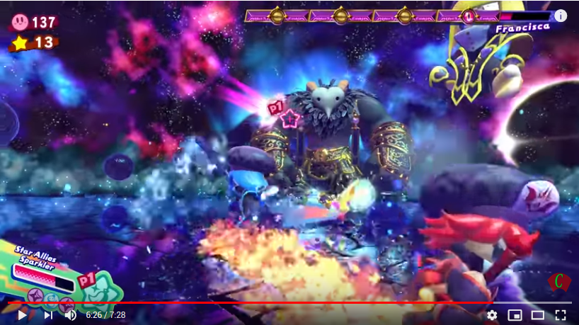 A little known fact is that Francisca is actually the final boss of Kirby Star Allies.
