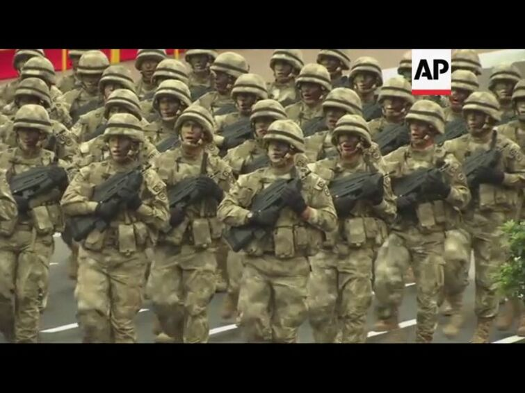 Military parade on Peru independence day