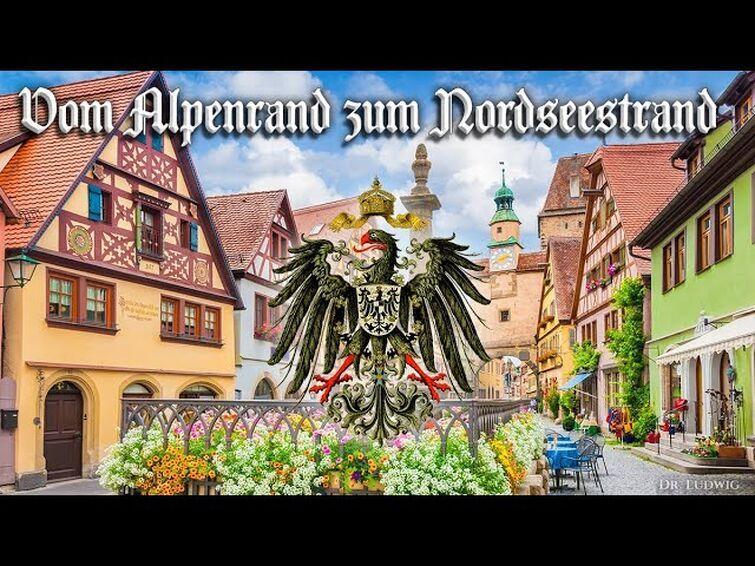 Vom Alpenrand zum Nordseestrand [German folk song][+English translation]