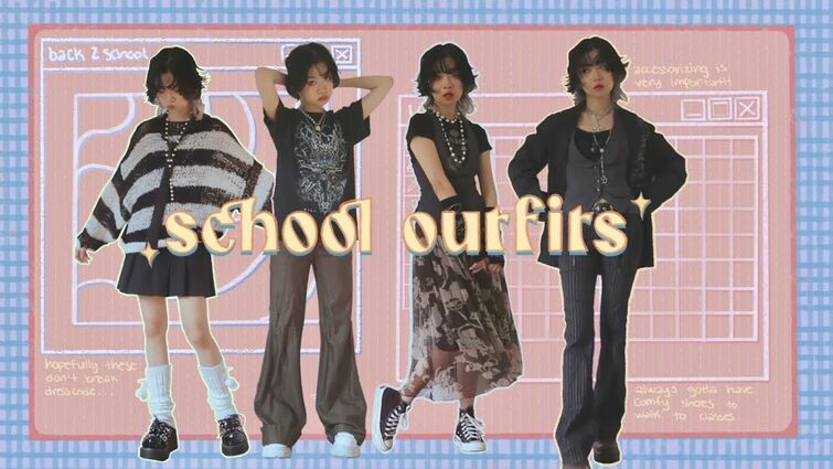 22 SCHOOL OUTFIT IDEAS to look cooler than ur classmates ☆ funkyfitz