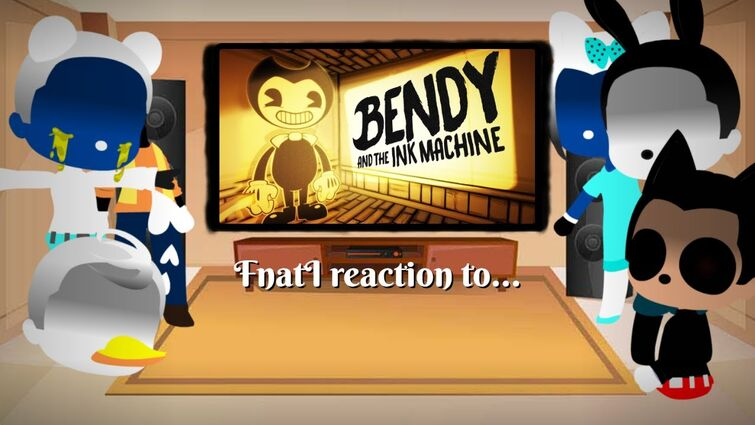 """The FNaTI Crew reaction to """"Build Our Machine"""" (Bendy and the ink Machine Song) //GCRV// /Read desc/"""