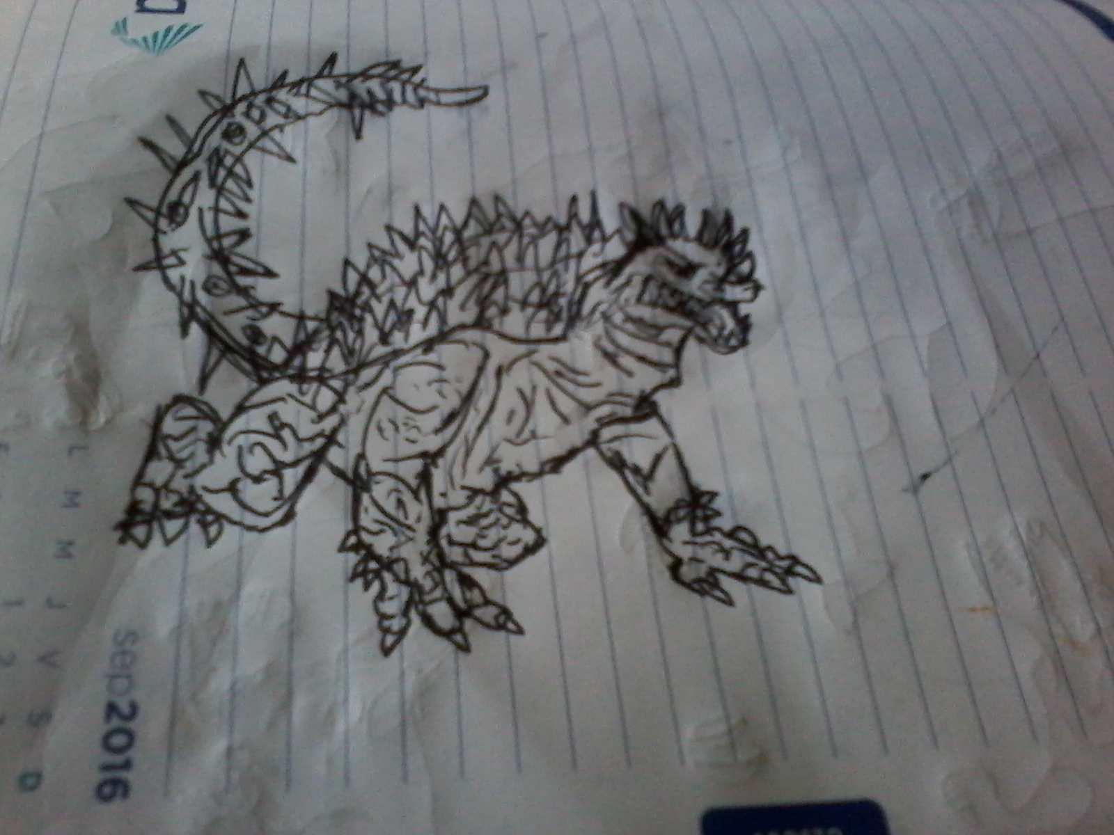 Dibujo de anguirus
