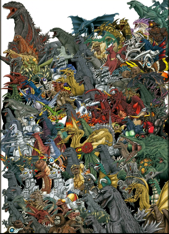Casi todos los monstruos de la saga