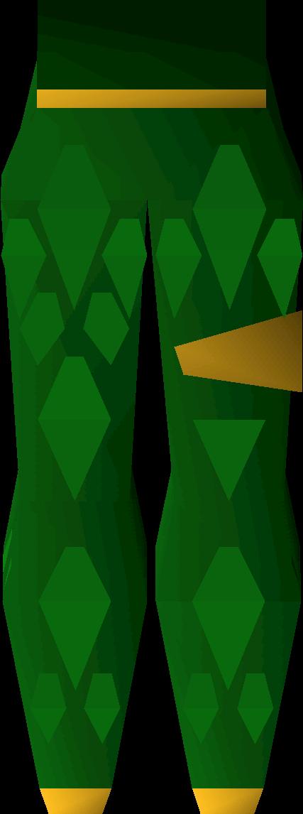 Green d'hide chaps (g)