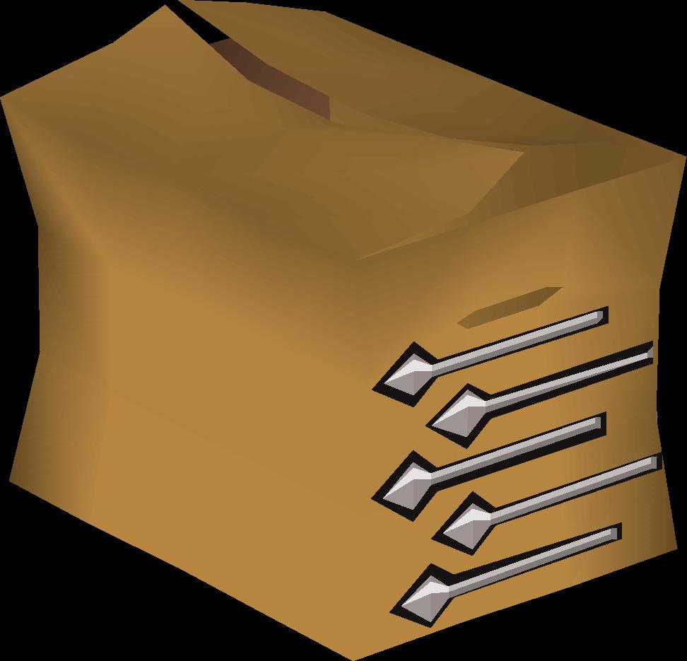 Unfinished broad bolt pack