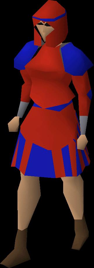 Red decorative skirt