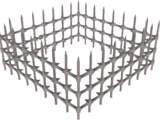 Spiked cage