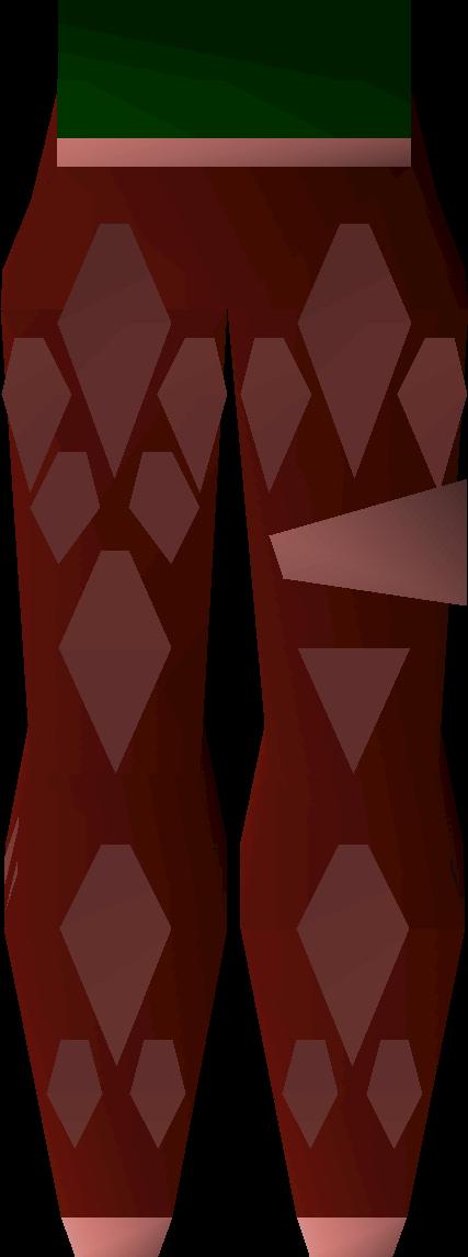 Red d'hide chaps (t)
