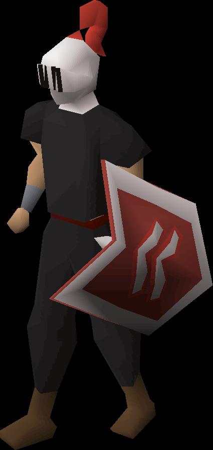 Adamant heraldic helm (Kandarin)