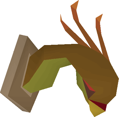 Cockatrice head (mounted)