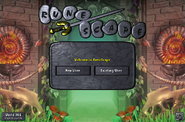 Fossil Island login screen