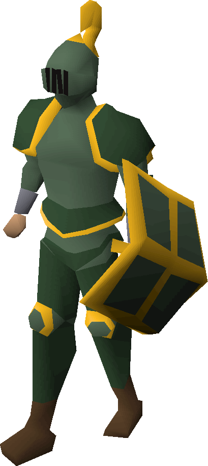 Adamant gold-trimmed armour