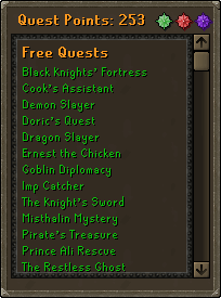 The quest interface.
