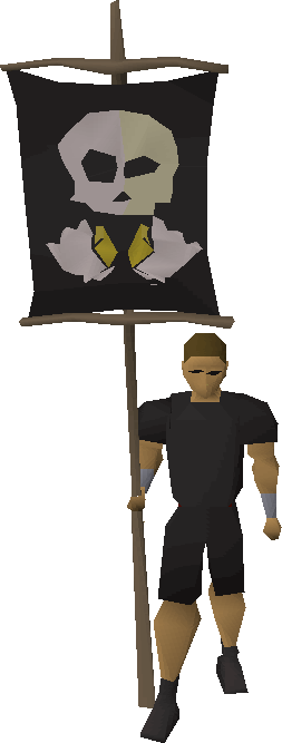 Bronze fist flag