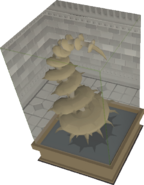 Petrified Spine Plant display
