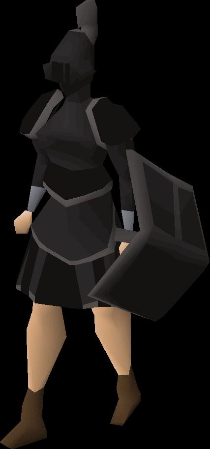 Black trimmed set (sk)