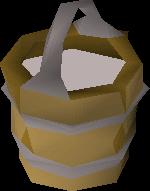 Bucket of milk