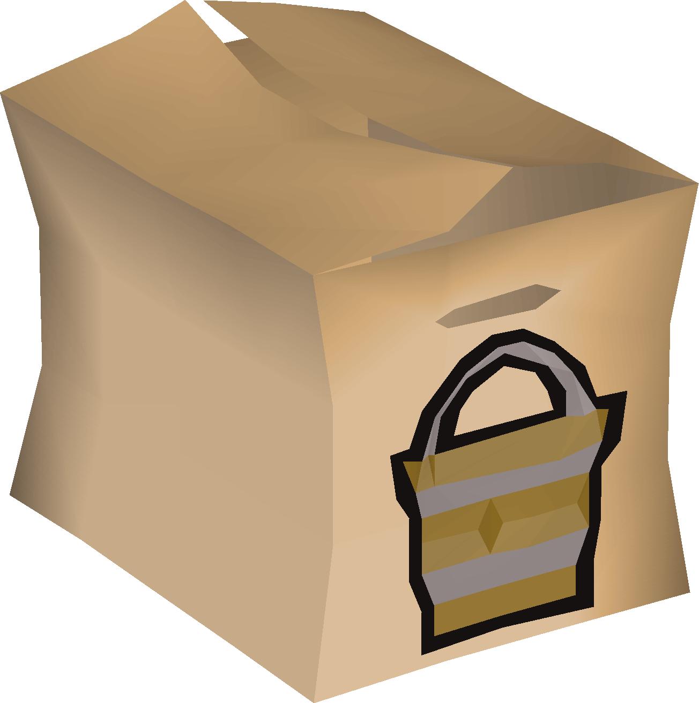 Empty bucket pack