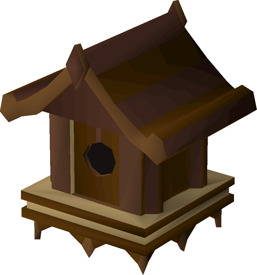 Mahogany bird house