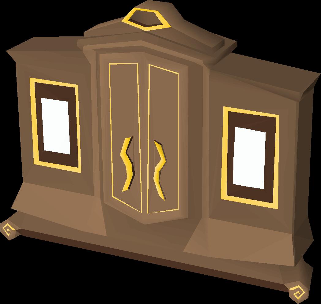 Gilded magic wardrobe