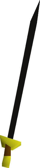 Black longsword