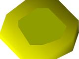 Gold amulet (u)