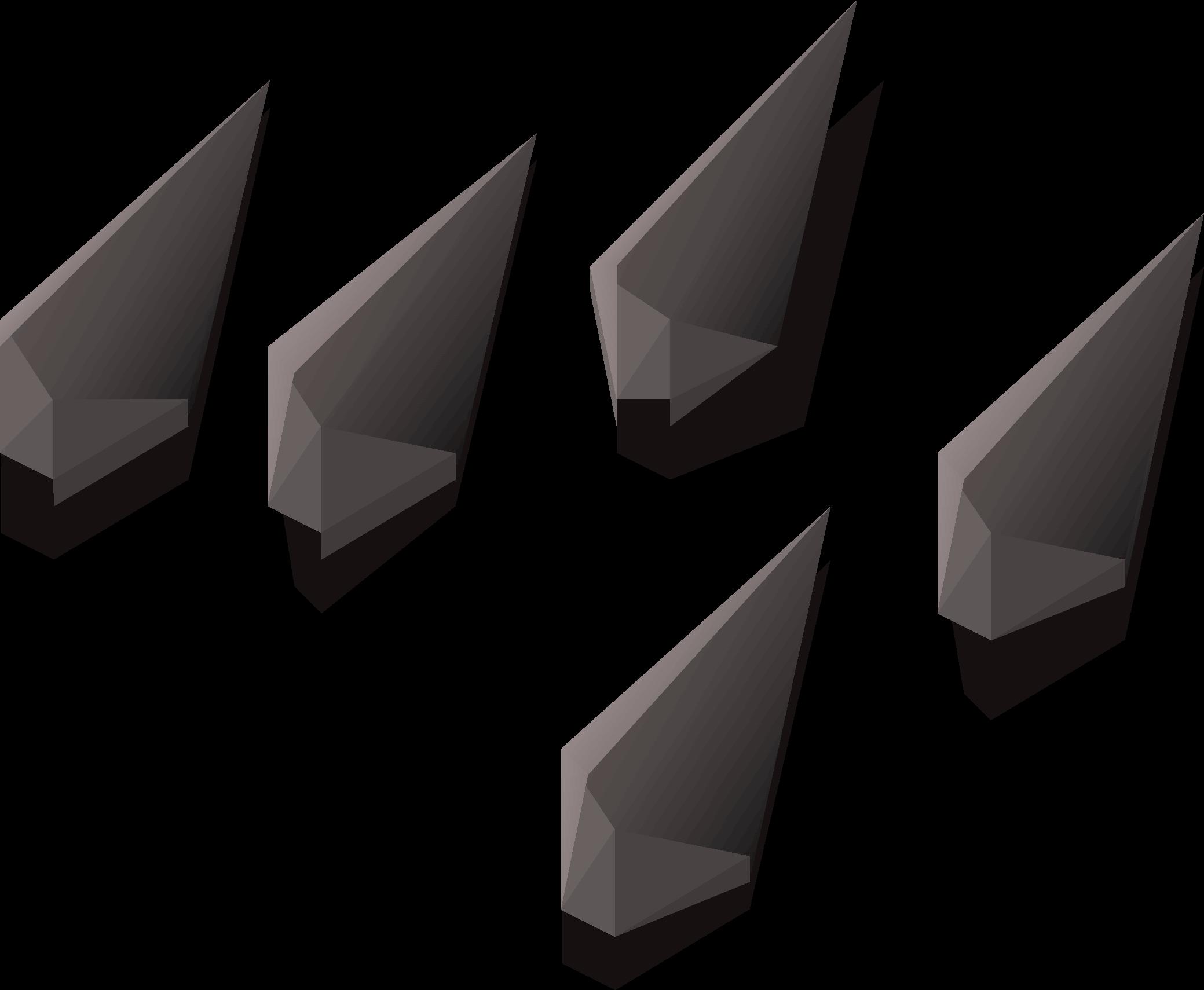 Iron arrowtips