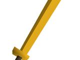 Gilded 2h sword