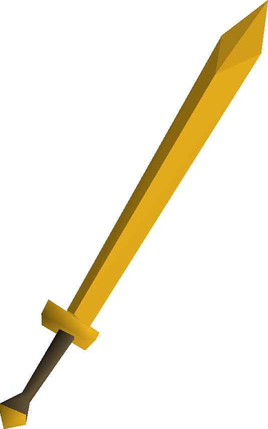 Gilded 2h sword