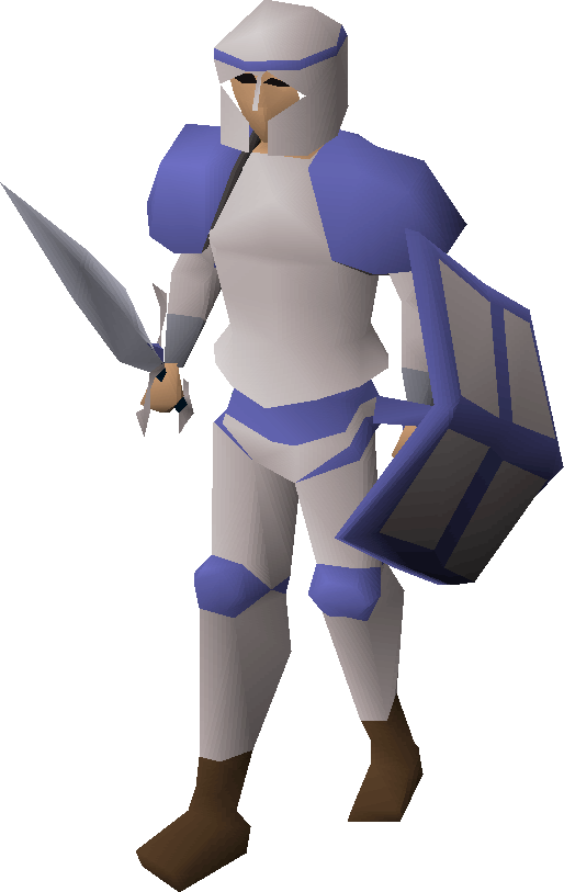 White decorative armour
