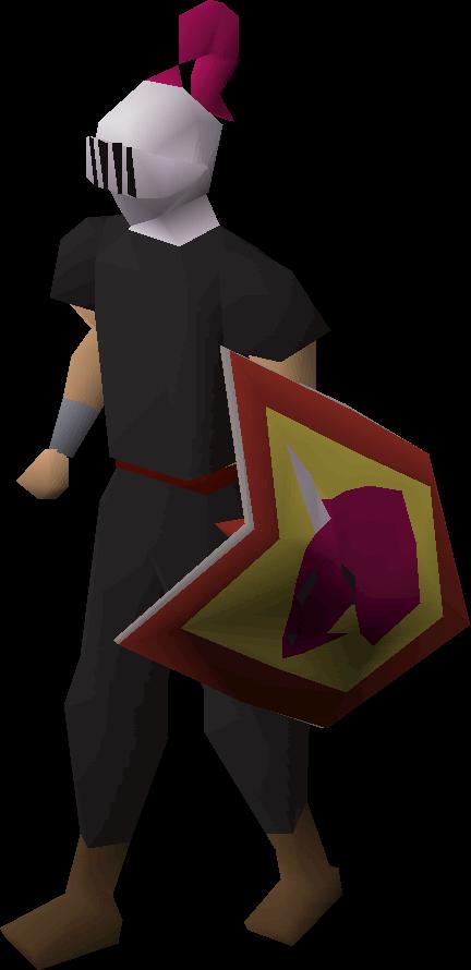 Adamant heraldic helm (Dragon)
