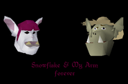 Making Friends with My Arm - Snowflake and My Arm forever