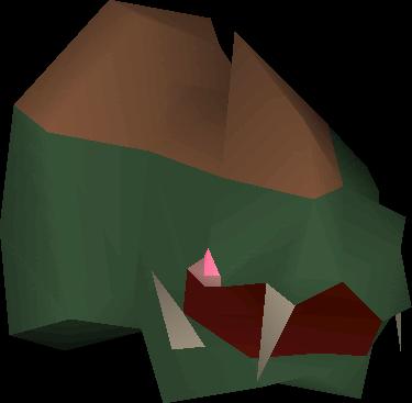 Stuffed basilisk head