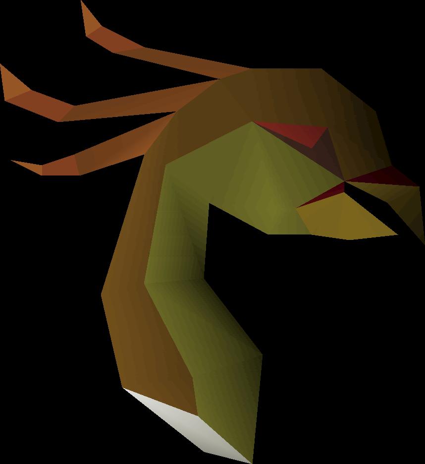 Stuffed cockatrice head