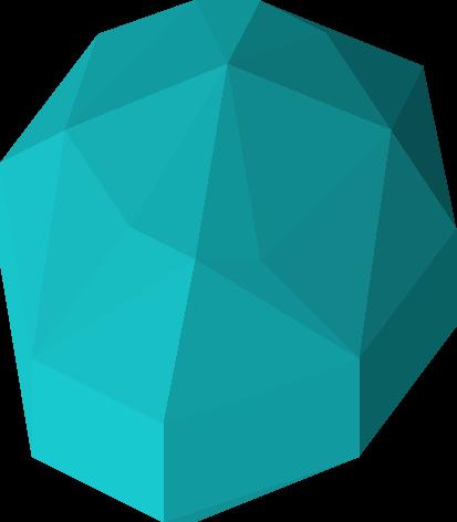 Polished blue gem