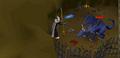 Blue dragon Heroes' Guild safe spot